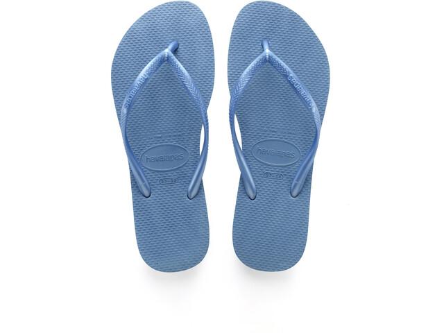 havaianas Slim Logo sandaalit Naiset, blue